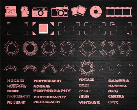 photography elements  fonts vector