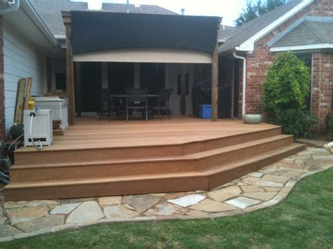 patio ipe deck replacing treated pine edeck