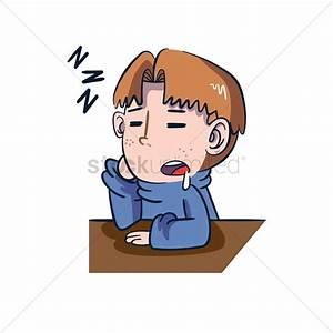 Cartoon character sleeping Vector Image - 1957624 ...