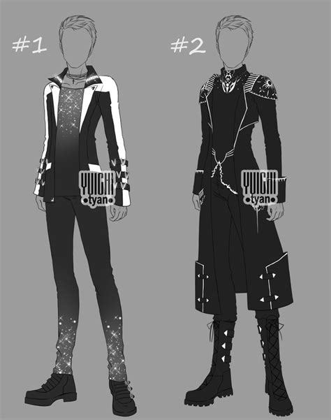 [Closed] Auction BW Outfit men by YuiChi-tyan on DeviantArt