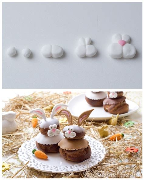 tuto de cuisine tuto déco petits lapins en pâte à sucre pour religieuses