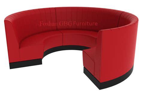 asiento mueble circular de la cabina del restaurante