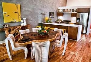 Deco Cuisine Bois : id e d co cuisine une d co cuisine moderne en jaune et gris ~ Melissatoandfro.com Idées de Décoration