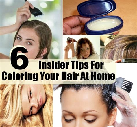top  insider tips  coloring  hair  home diy