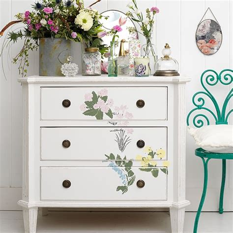 stencils for furniture decoration create flowery furniture vintage bedrooms to delight you housetohome co uk