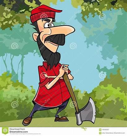 Woodcutter Cartoon Clipart Axe