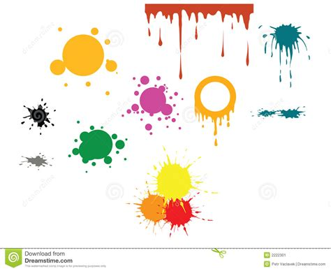 Vector Color Spots Stock Vector. Illustration Of Messy