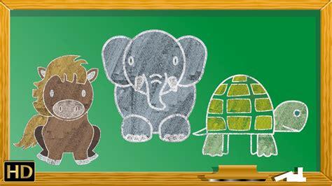 easy animals drawings  kids vol  step  step