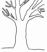 Tree Trunk Coloring Bare Pages Clipart Leaves Without Clip Branches Colouring Fall Cliparts Printable Template Stump Simple Empty Trees Adults sketch template