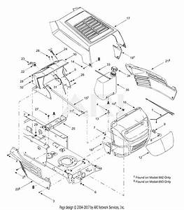 Mtd 13an693g118  2003  Parts Diagram For Hood Style 3
