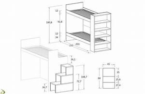 Dimensione letto singolo letto singolo con sistema porta for Letto a castello misure