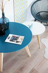 Table Basse Scandinave Bleu : ides de fabriquer sa table basse scandinave galerie dimages ~ Teatrodelosmanantiales.com Idées de Décoration