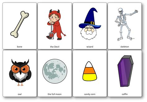 Halloween Flashcards  Free Printable Flashcards To Download  Speak And Play English