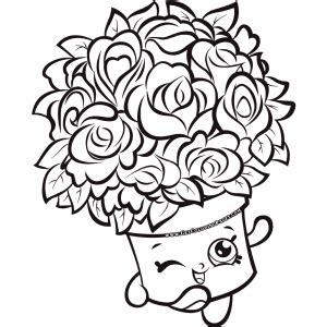 Bouquet Shopkins 7 Colouring Page Shopkins colouring
