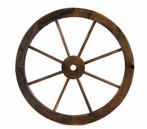 Large Wooden Wheel Garden Feature - Online Shopping