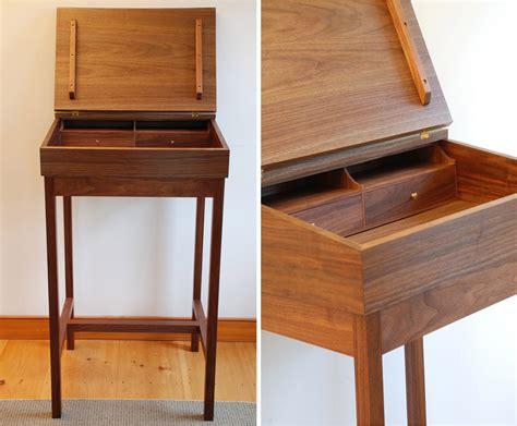custom wood stand  desks   vermont