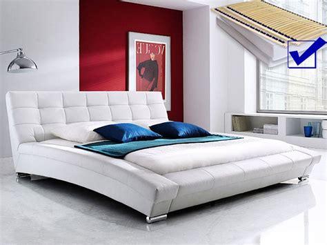 Polsterbett Weiss Komplett Bett 180x200 Matratze