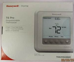 Honeywell T6 Pro Programmable Thermostat Th6210u2001