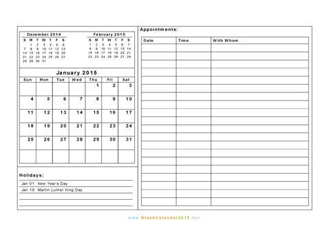 Free Printable 2015 Calendar Templates Costumepartyrun