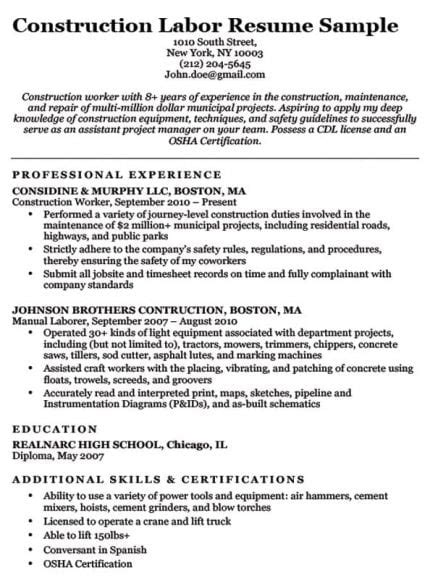 Letter Construction Worker by Electrician Resume Sle Writing Tips Resume Companion