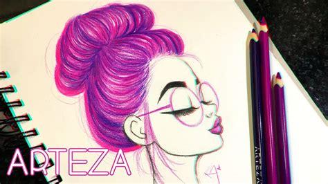 draw  color hair   bun ft arteza color