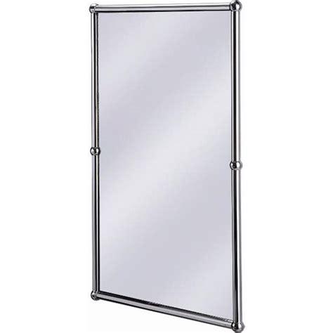 Pivot Bathroom Mirror Chrome Uk by Burlington Rectangular Mirror With Shelf In Chrome Frame