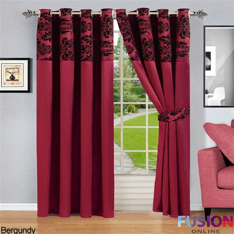 Ring Top Drapery - ring top fully lined pair eyelet ready curtains luxury