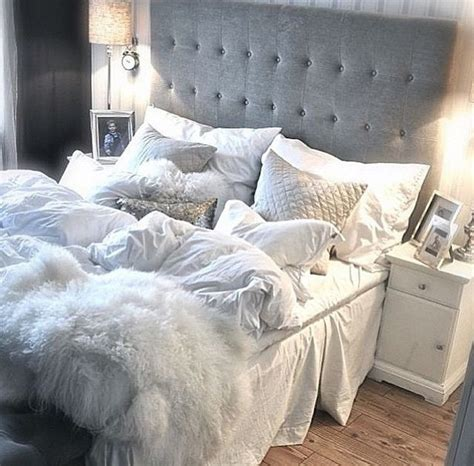 cozy bedroom in grey with beautiful home decorations 25 best ideas about cozy white bedroom on pinterest white bedroom decor white rustic bedroom