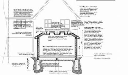 Extension Rear Drawings Foundations Plans Construction Draw
