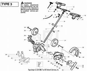 Poulan Pe550 Gas Edger Type 3 Parts Diagram For Handle  U0026 Controls Type 3