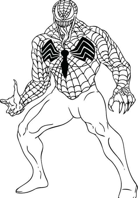 spiderman black suit coloring pages  getcoloringscom  printable colorings pages