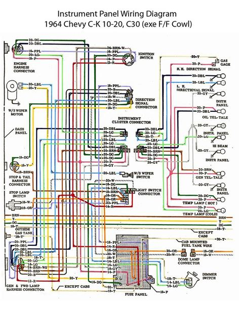 Wiring Diagram 68 Chevy C10 by Electric Wiring Diagram Instrument Panel 60s Chevy