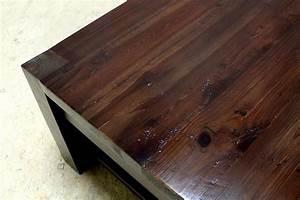 Square parsons coffee table in espresso - ECustomFinishes