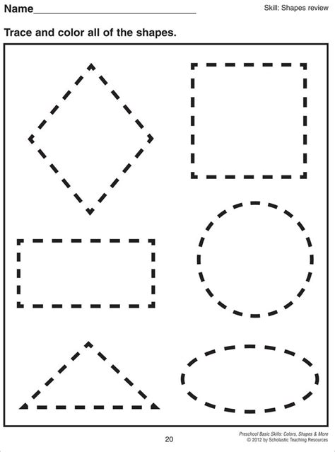 best 25 tracing shapes ideas only on learning 282 | 85c0d52cf77c08a373b7e58591ddd82c preschool shapes preschool worksheets