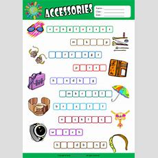Accessories Esl Printable Worksheets For Kids 2