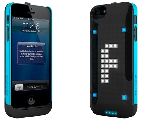 iphone led led iphone 5 displays pixelated messages on its back