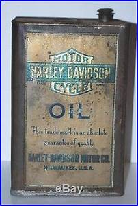 Very Rare Vintage Harley Davidson 5 Gal  Oil Can Patent