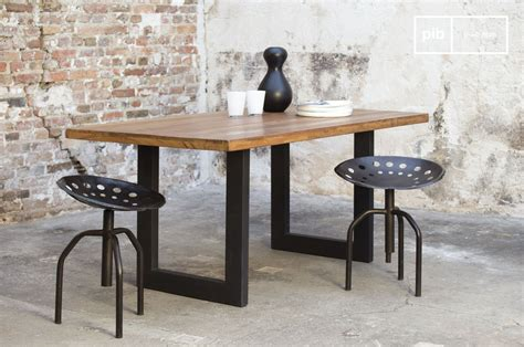 table bois industriel table en teck peterstivy table industrielle en bois pib