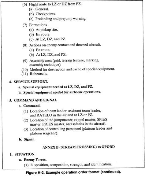 opord template fm 7 93 appendix h