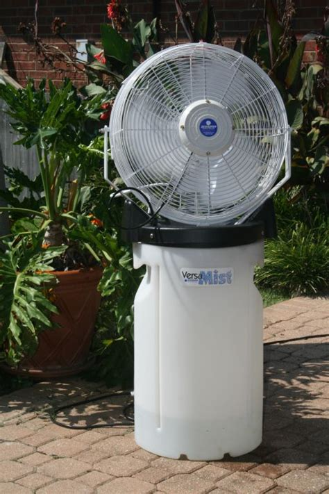 Portable Patio Misting Fans versa mist 18 quot outdoor misting fan cool my garage