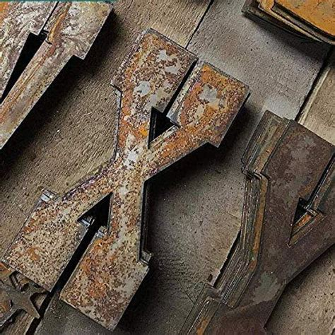 amazoncom farmhouse rustic   flat metal letters  numbers wall art decor outdoor