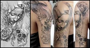 The gallery for --> Virgin Mary Pieta Tattoo