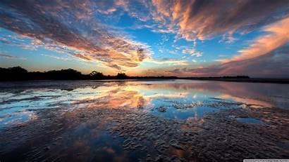 Sunset Sky Background Wallpapers Desktop Ultra Dual