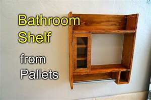Bathroom Shaving Shelf from Pallet Wood - How to - YouTube