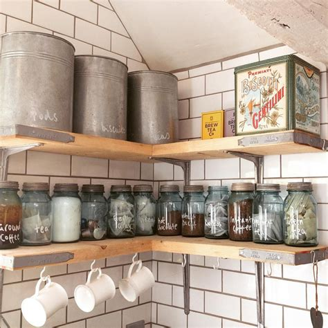 kitchen wall storage scaffolding plank kitchen shelves 3458