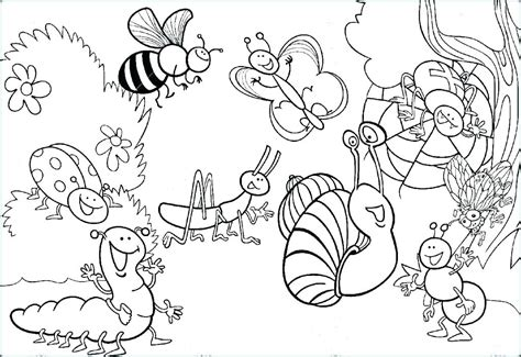 Coloring Insects by Free Bug Coloring Pages At Getcolorings Free