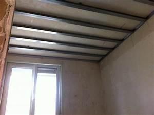 Faux Plafond Placo Sur Rail : types de rails et montants pour plafond autoporteur placo ~ Melissatoandfro.com Idées de Décoration