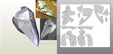 plague doctor mask template plague doctor mask pepakura by demorai on deviantart