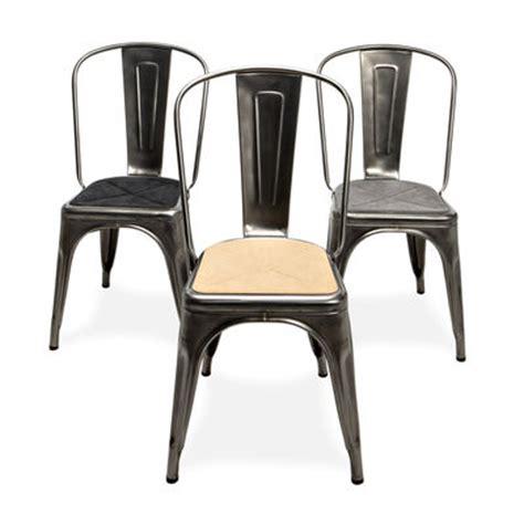chaise imitation tolix flat seat cushion grey by tolix
