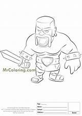 Clash Royale Coloring Pages Clans Barbarian Printable Para King Colorir Dark Desenhos Getdrawings Pintar Personagens Getcolorings Salvo sketch template